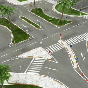 intersection road 3D model