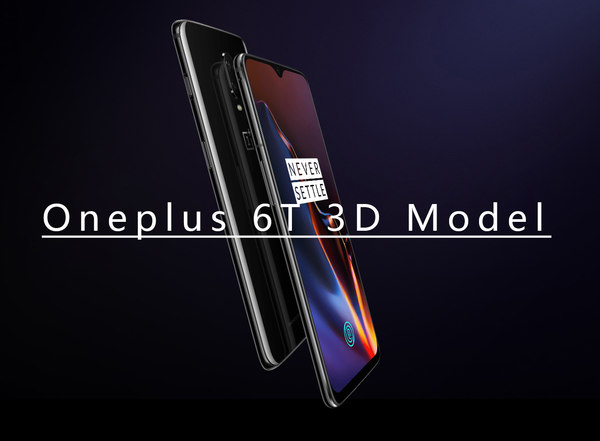 3D oneplus 6t phone model