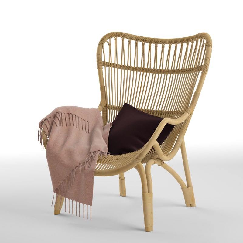 c110 highback lounge chair 3D model