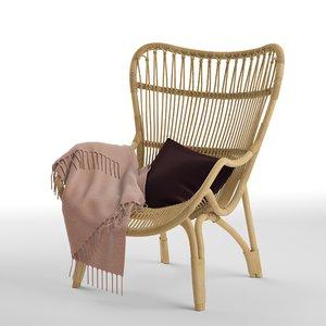 c110 highback lounge chair 3D model