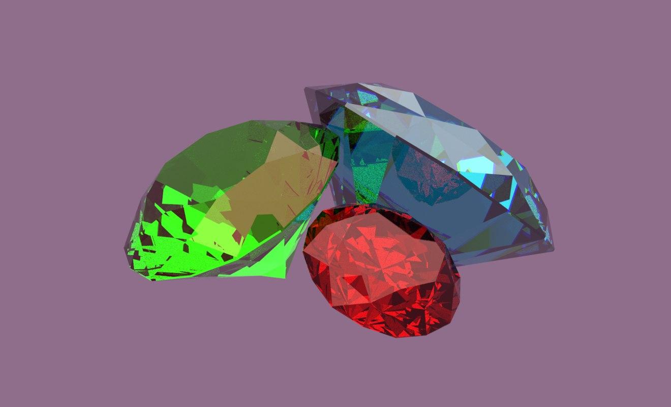 3D precious stones