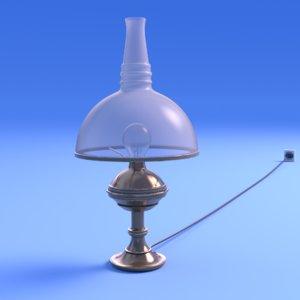 lamp art nouveau - 3D model