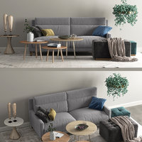 frajumar sofa soul set 3D model