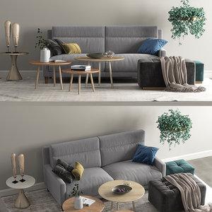 frajumar sofa soul set 3D model