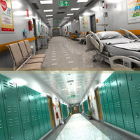 Hospital and School Hallway Collection