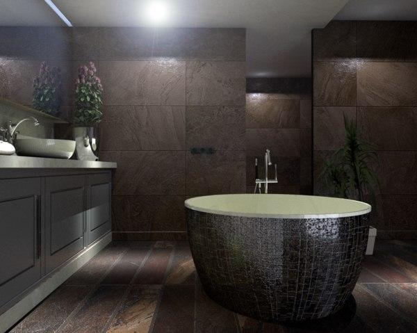 3D bathroom designed model