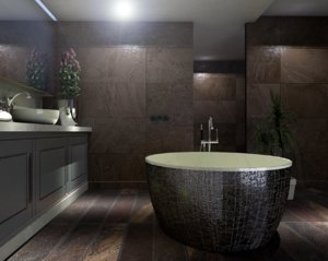 3D bathroom designed model
