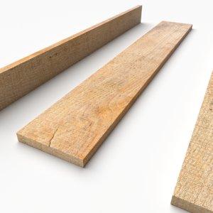 pbr wooden plank 01 3D model