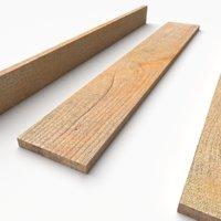 pbr wooden plank 02 3D