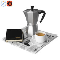 3D decorative coffee newspapers