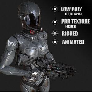 cyborg robot model