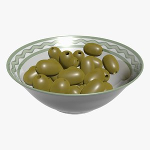 olives ceramic bowl 3D model