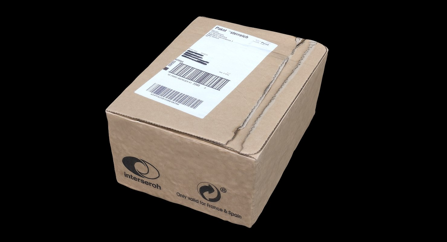 3D box package amazon