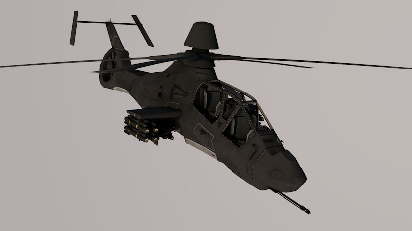 3D model sikorsky rah-66 modeled comanche helicopter