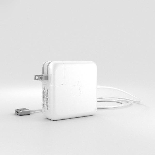 3D model apple 60w magsafe