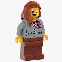 lego woman stewardesse 3D model