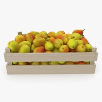 pear forest beauty wooden crate model