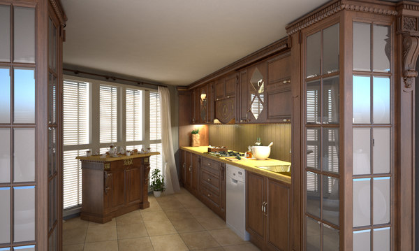 classic kitchen 3D