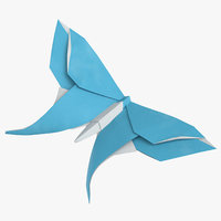 3D model butterfly origami