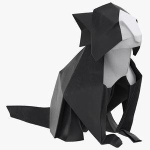 cat origami 3D model