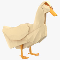 3D duck origami model