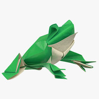 3D frog origami