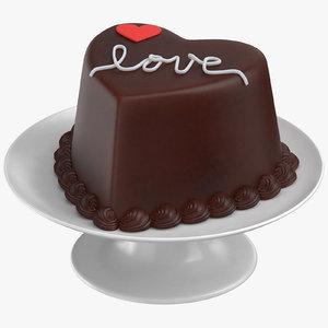 heart shaped cake 02 3D model