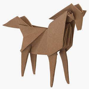 3D horse origami model