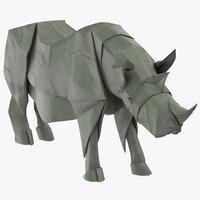 3D model rhino origami