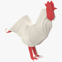rooster origami model