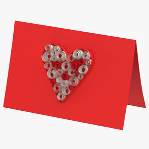 valentines card 01 3D model