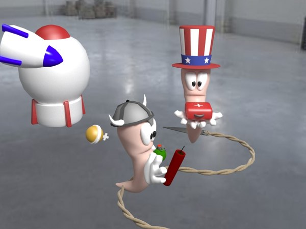 3D games worms model