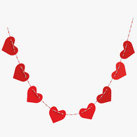 heart shaped garland 04 3D model