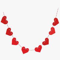 heart shaped garland 04 3D model