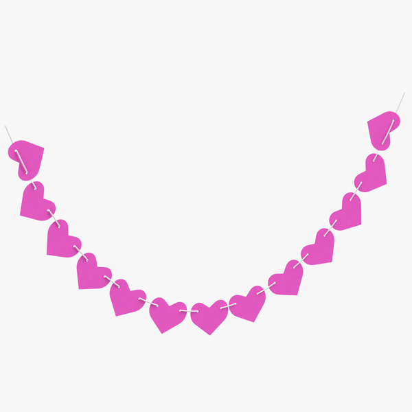 3D model heart shaped garland 05