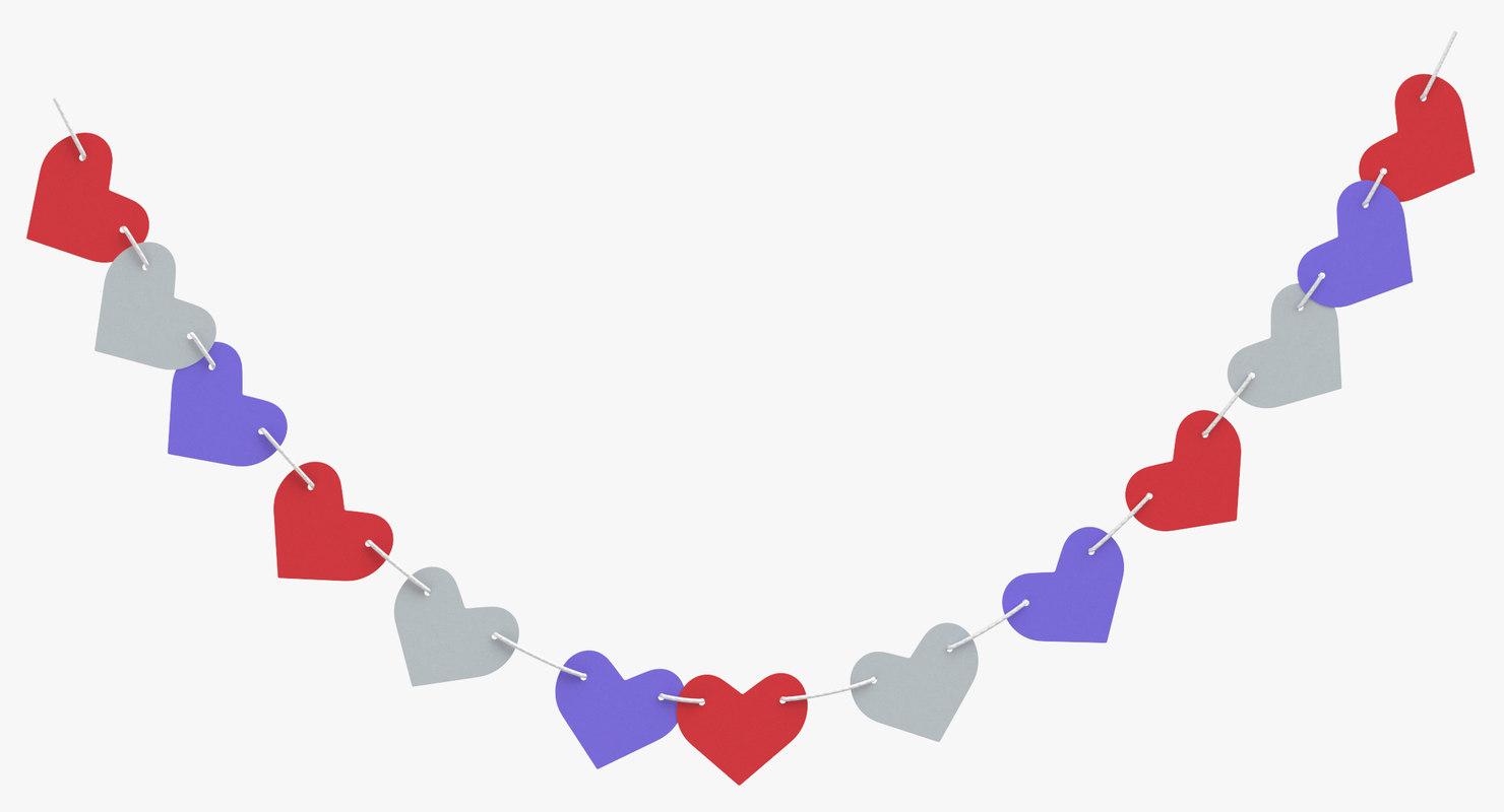 heart shaped garland 06 model