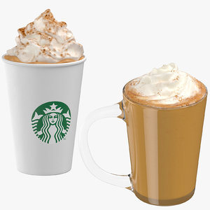 pumpkin spice lattes 3D model