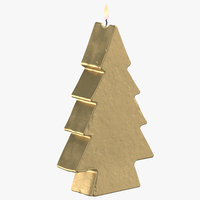tree shaped candles 3D