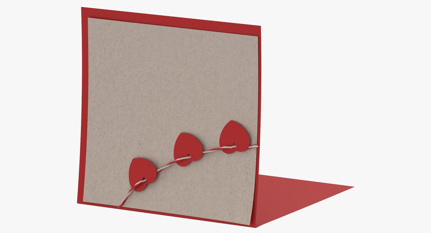 3D valentine card