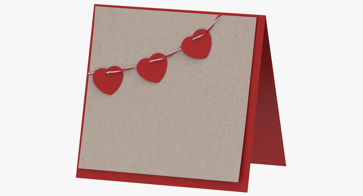3D valentine card 03 standing