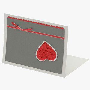 3D valentines card