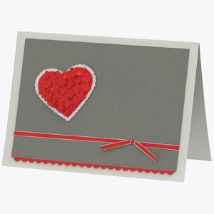 valentines card 02 standing model