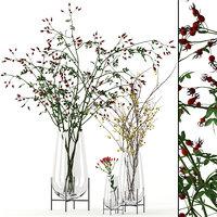 realistic echasse vases twig model