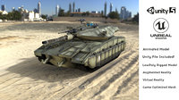 3D panther german tank vr model