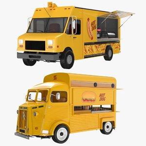 3D model food trucks