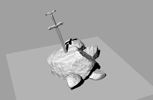 sword stone 3D model