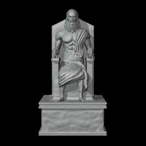 god zeus 3D model