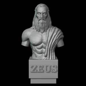 god zeus bust 3D model