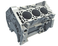 3D model v6 engine block