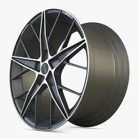 3D oz quaranta wheel car model